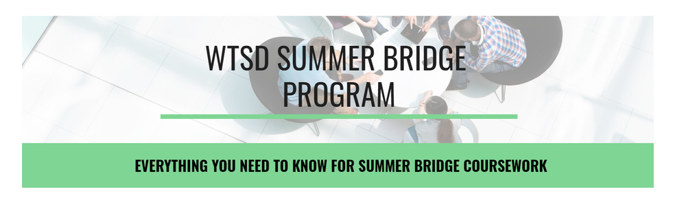 WTSD Summer Bridge Program