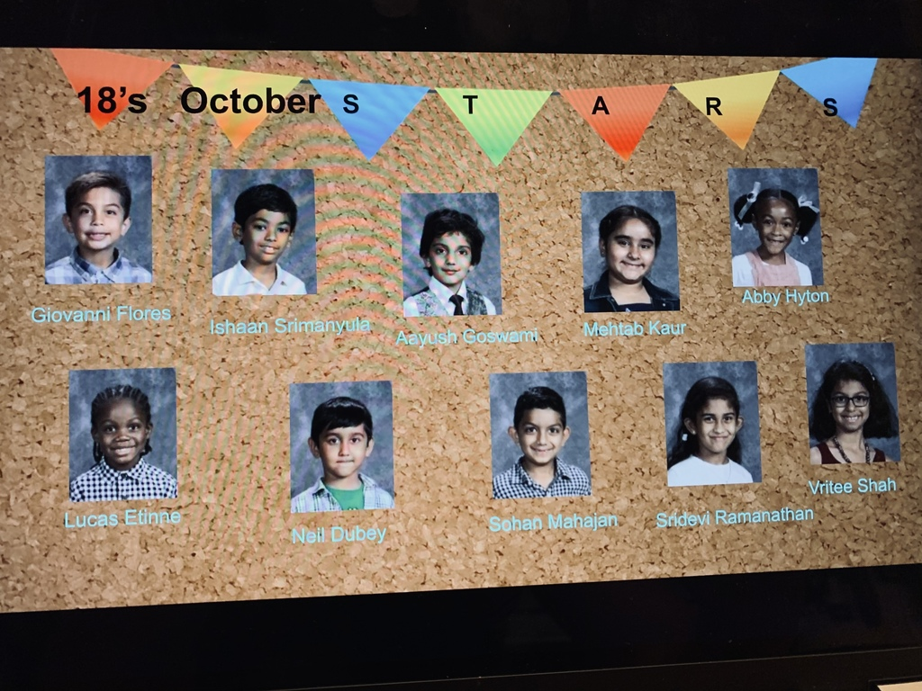 October's Star Students