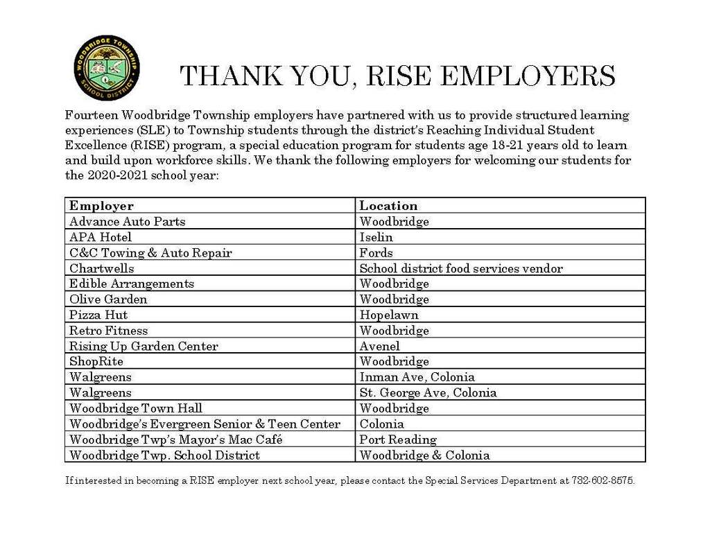 Thank You - RISE Employers