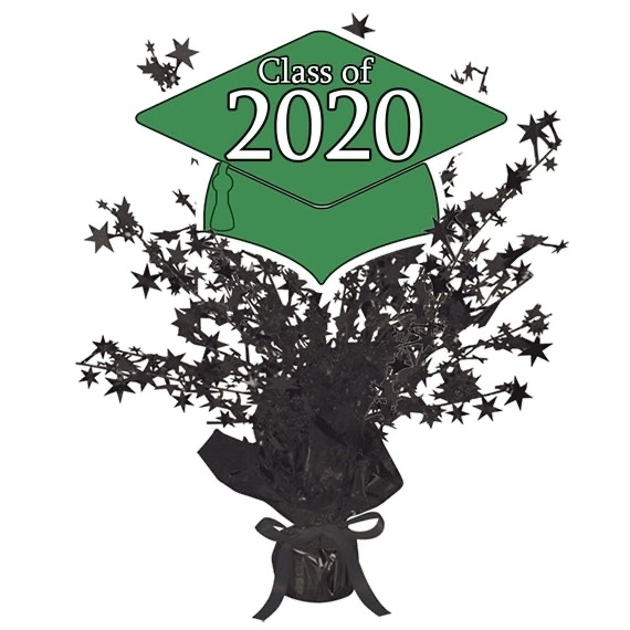 Class of 2020 Green and Black Centerpiece