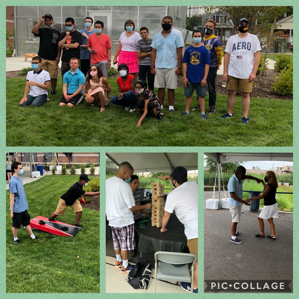 RISE students safely enjoying our outdoor celebration with games and music!