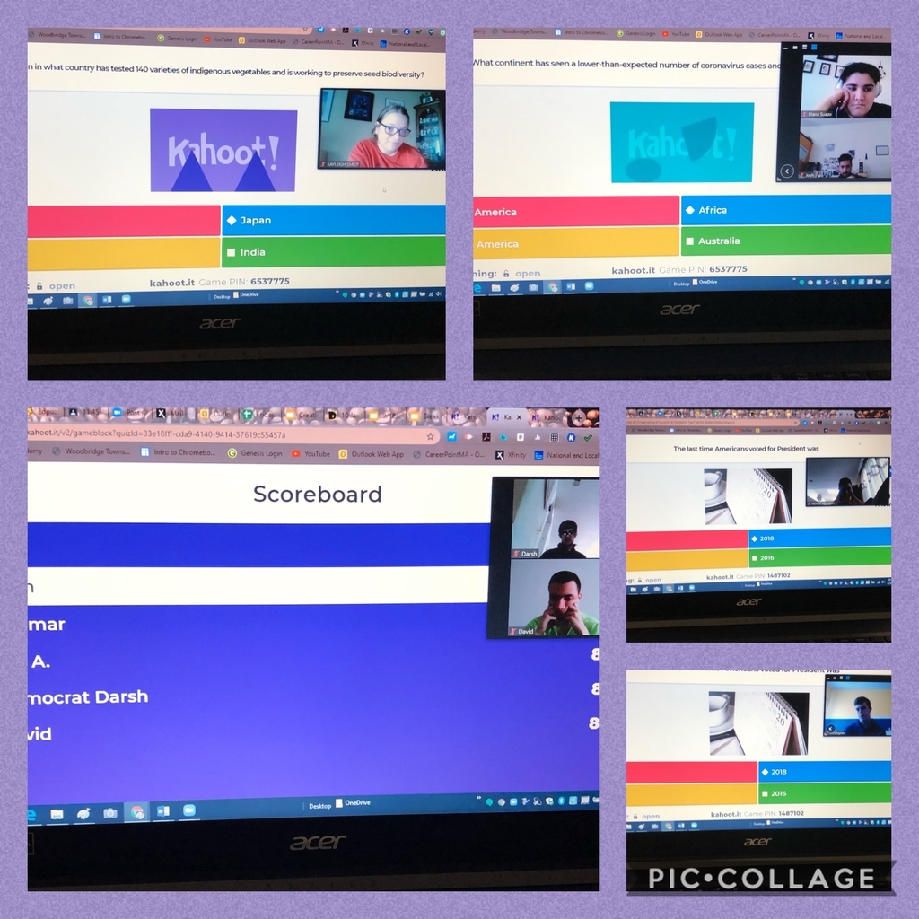 Students playing Kahoot
